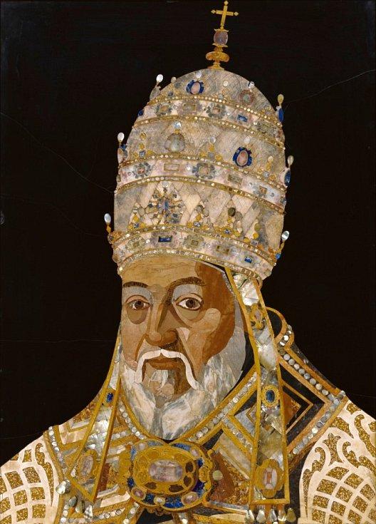 Mozaika s vyobrazením papeže Klementa VIII. (1536 až 1605)
