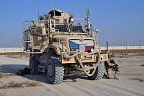 Čeští vojáci na základně v afghánském Bagrámu