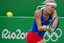 Lucie Hradecká se v Riu představila i ve dvouhře.