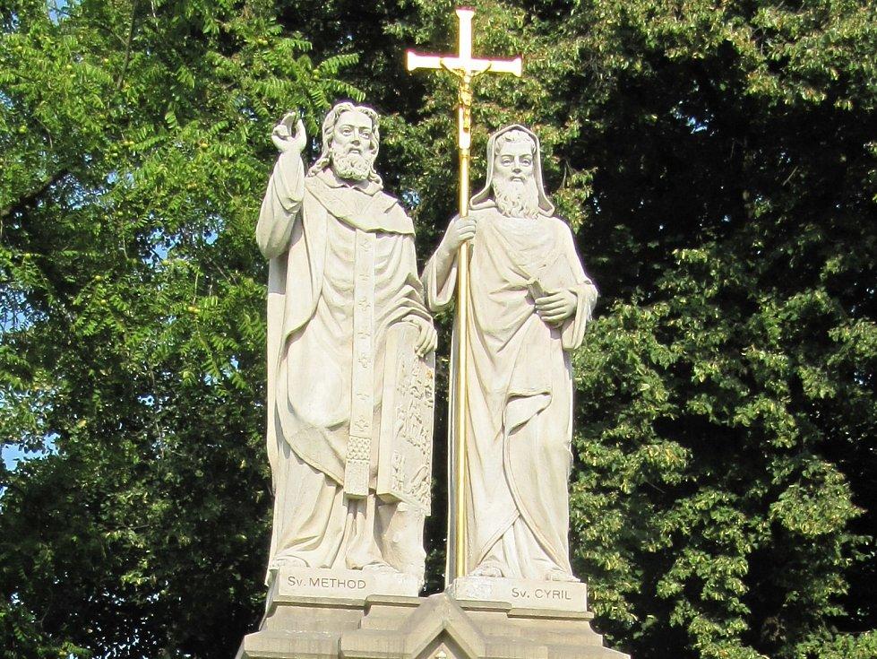 Socha svatých Cyrila a Metoděje