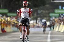 Po celém dni v úniku vyhrál belgický cyklista Thomas De Gendt osmou etapu Tour de France.