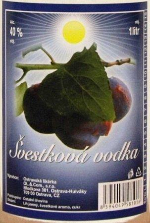 Švestková vodka zostravské likéry
