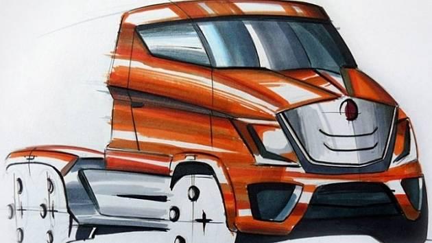 Jeden z návrhů terénního vozu Tatra pro 21. století.
