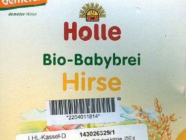 Státní zemědělská a potravinářská inspekce (SZPI) varuje veřejnost před konzumací dětské biovýživy s jáhly, jablky a hruškami značky Holle Bio-Babybrei Hirse (na snímku). V Německu v ní našli látku atropin.