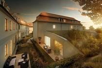 Skanska plánuje začít letos na podzim s rekonstrukcí památkově chráněného Hendlova dvora na pražské Hanspaulce (na vizualizaci). Vzniknout v něm má 29 luxusních bytů.