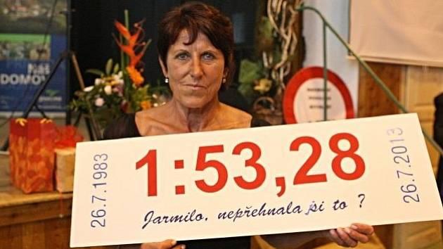 Jarmila Kratochvílová a její vousatý světový rekord.