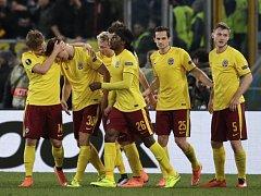 Radost v Římě. Sparta vyřadila Lazio a postoupila do čtvrtfinále Evropské ligy