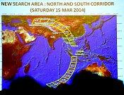 Oblast pátrání po troskách malajsijského letu MH370 se měnila mnohokrát, zatím však bez jakéhokoliv výsledku.