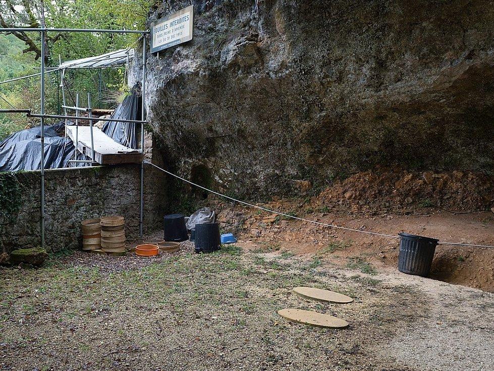Naleziště neandertálských ostatků La Ferrassie v jihozápadní Francii
