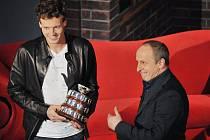 Český tenista vystavoval na obdiv replikou Davis Cupu.