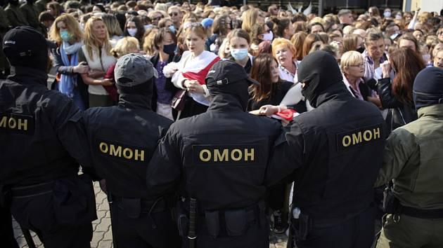Stovky žen se dnes v běloruské metropoli Minsku zúčastnily další z demonstrací proti režimu autoritářského prezidenta Alexandra Lukašenka.