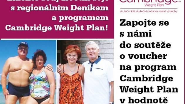 Zapojte se s námi do soutěže o  voucher na program Cambridge Weight Plan v hodnotě 7.000 Kč.