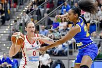 Utkání skupiny D kvalifikace o postup na ME 2021 basketbalistek: Česká republika - Rumunsko.