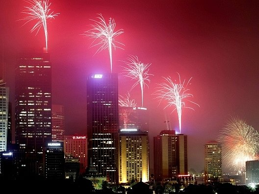 Oslavy příchodu roku 2013 v australském Sydney