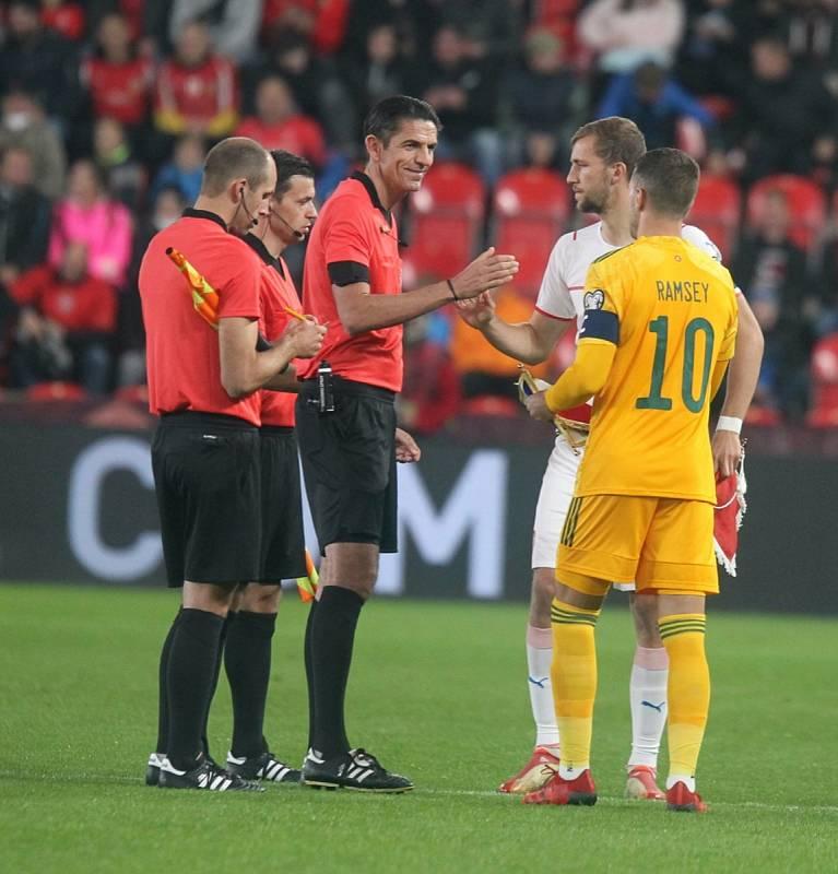 Čeští fotbalisté se v Praze v rámci kvalifikace MS utkali s Walesem.