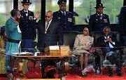 Nově zvolený prezident Jihoafrické republiky Jacob Zuma v sobotu v Pretorii složil prezidentskou přísahu