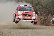 Martin Prokop na trati Mexické rallye. V hodnocení JWRC skončil sedmý.