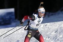 Norský biatlonista Johannes Thingnes Bö ve vytrvalostním závodu Světového poháru v Pokljuce.