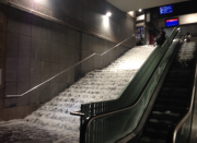 Voda zaplavila i metro ve švýcarském Lausanne