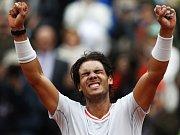 Rafael Nadal ve finále Roland Garros.