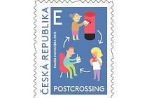 Česká pošta vydala první známku s motivem tzv. postcrossingu, což je hnutí zabývající se vyměňováním pohlednic prostřednictvím poštovní sítě.