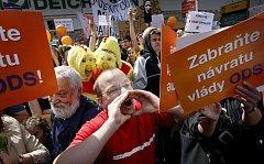 Z mítinku ČSSD.