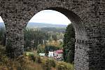 Železniční viadukt v krušnohorském Perninku