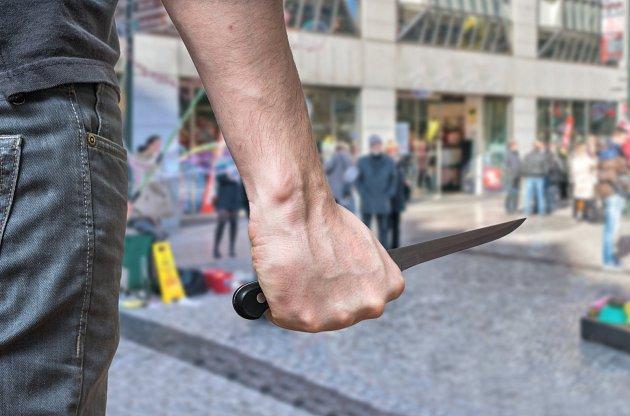 Útok nožem, ilustrační foto