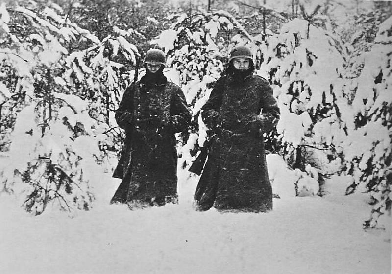 Německá stráž západně od Moskvy, prosinec 1941