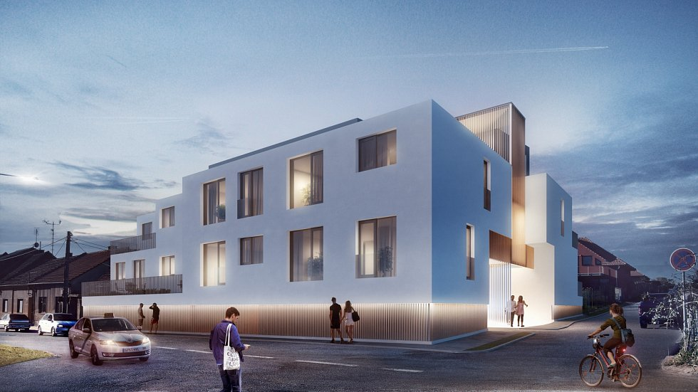 Architektura - Studio AEIOU. Bytový dům Kosuličova v Brně