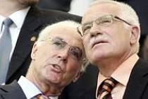 Beckenbauer s prezidentem Klausem