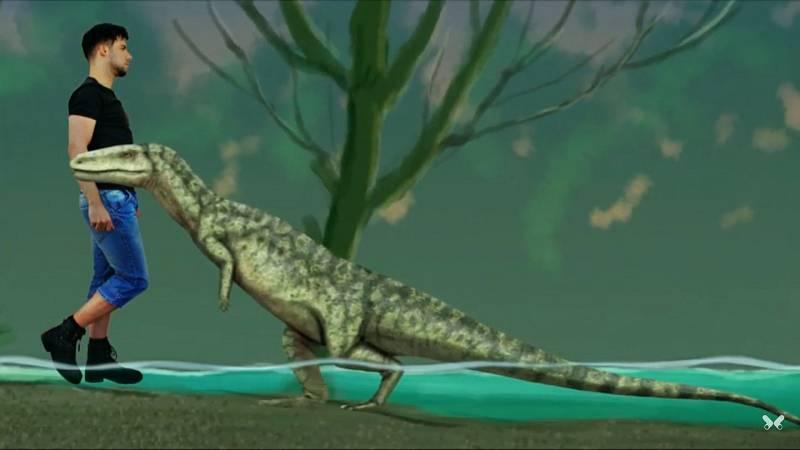 Někteří z krokodýlích předků,  u nichž je zvažována chůze po zadních. Toto je Poposaurus
