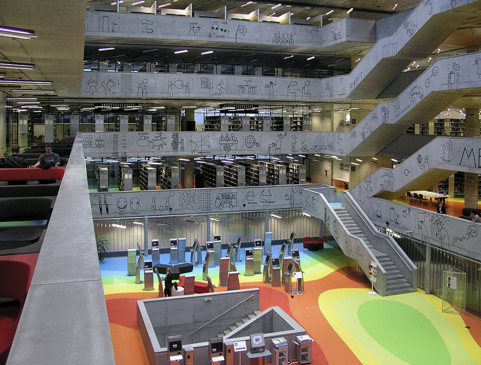 Národní technická knihovna, atrium