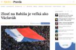 Zpráva slovenského deníku Pravda