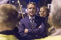 Šéf AfD v Durynsku Björn Höcke, který několikrát vystoupil na demonstracích hnutí Vlastenečtí Evropané proti islamizaci Západu (Pegida).