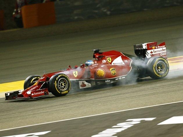 Fernando Alonso ve Velké ceně Bahrajnu.