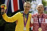 Chodci Tallent (vlevo) a Kirďapkin na olympiádě v Londýně.