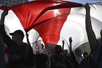 Pokračující protivládní protesty v běloruském Minsku