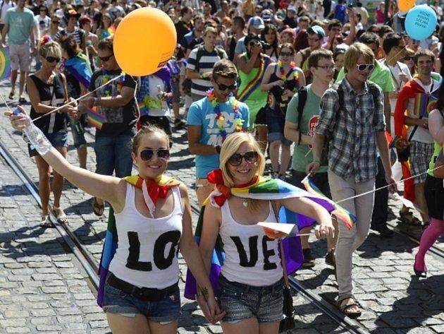Pochod hrdosti homosexuálů Prague Pride.