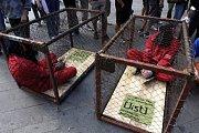 Protesty proti porušování lidských práv