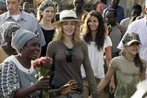 Zpěvačka Madona na návštěvě v Malawi.