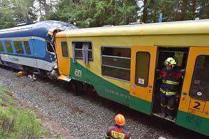 U Perninku na Karlovarsku se 7. července 2020 čelně srazily dva osobní vlaky.