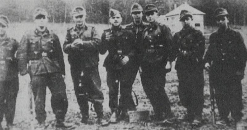 Členové SS komanda, které se podílelo na masakrech na Valašsku