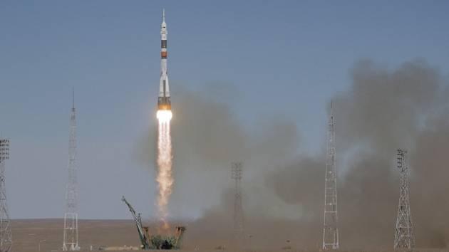 Ruská raketa Sojuz.