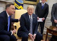 Americký prezident Donald Trump s polským protějškem Andrzejem Dudou