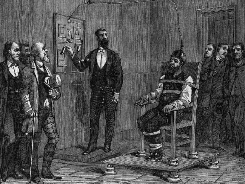 Dotyk - První pokus popravit člověka na elektrickém křesle se zvrhl v  krvavé divadlo