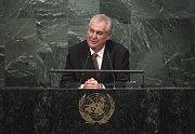 Zeman promluvil na půdě OSN
