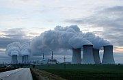 Kazety s jaderným palivem.