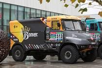 Závodní speciál Tatra týmu Bonver Dakar Project Tomáše Vrátného.