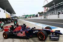 Max Verstappen v tréninku na Velkou cenu Japonska.
